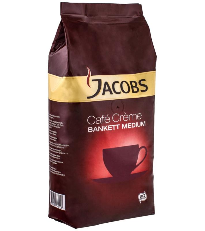 КАВА ЗЕРНОВА JACOBS CAFE CREME BANKETT MEDIUM 1 кг