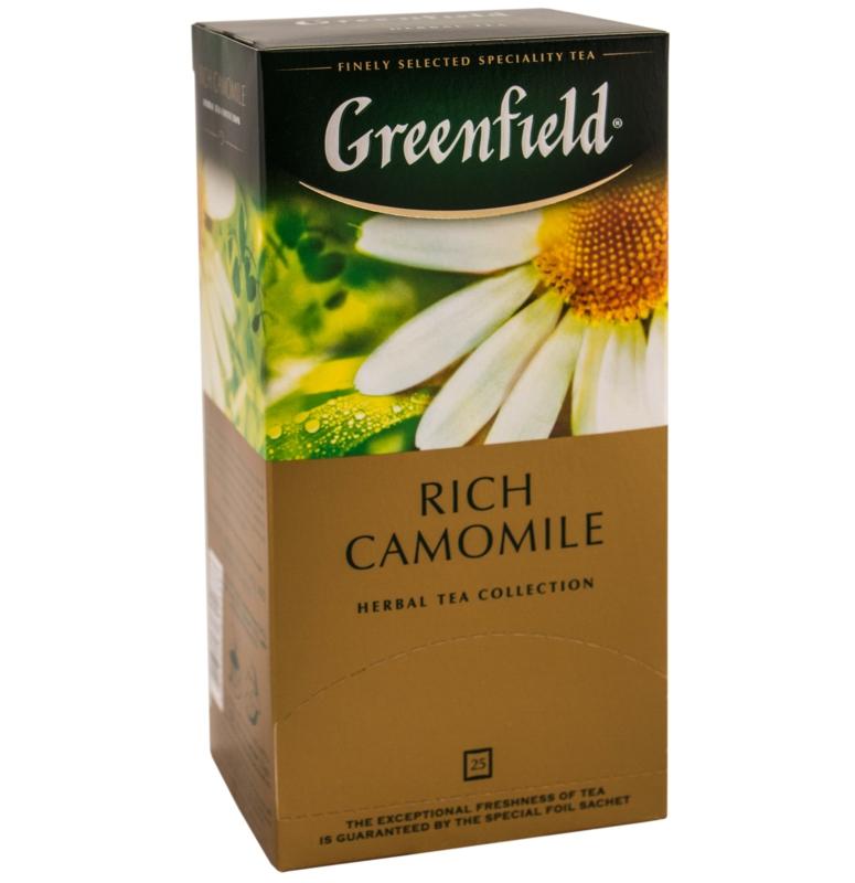 ЧАЙ GREENFIELD RICH CAMOMILE 25 пак