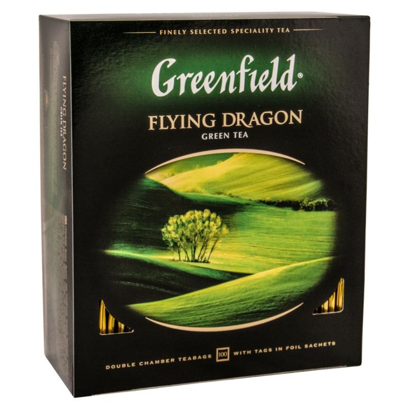Чай Greenfield - ЧАЙ ЗЕЛЕНИЙ GREENFIELD FLYING DRAGON 100 пак