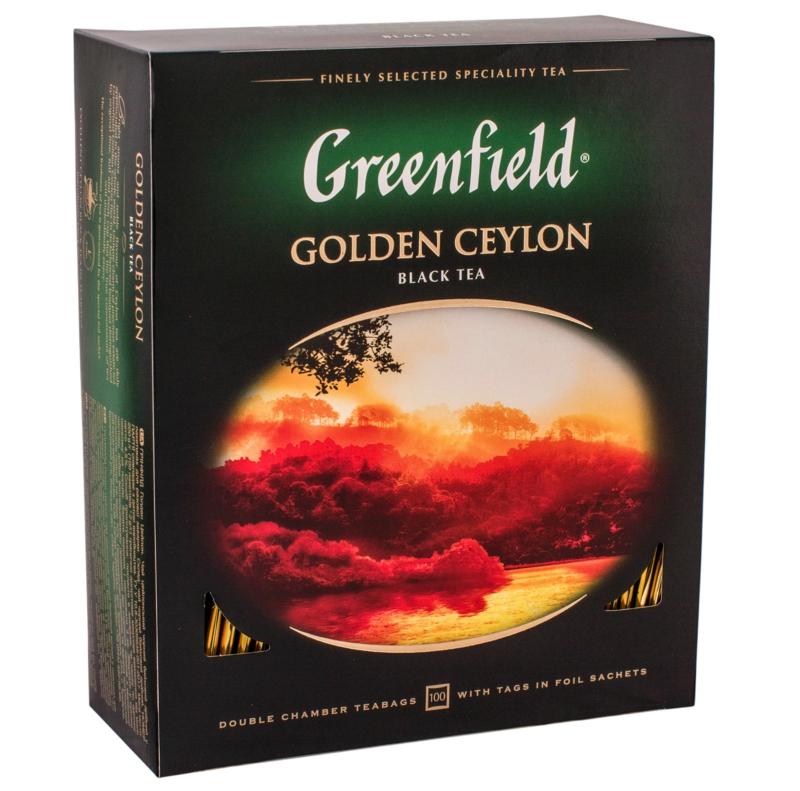 Чай Greenfield -  ЧАЙ ЧОРНИЙ GREENFIELD GOLDEN CEYLON 100 пак
