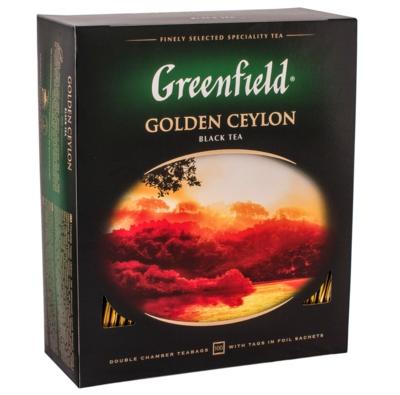 ЧАЙ ЧОРНИЙ GREENFIELD GOLDEN CEYLON 100 пак