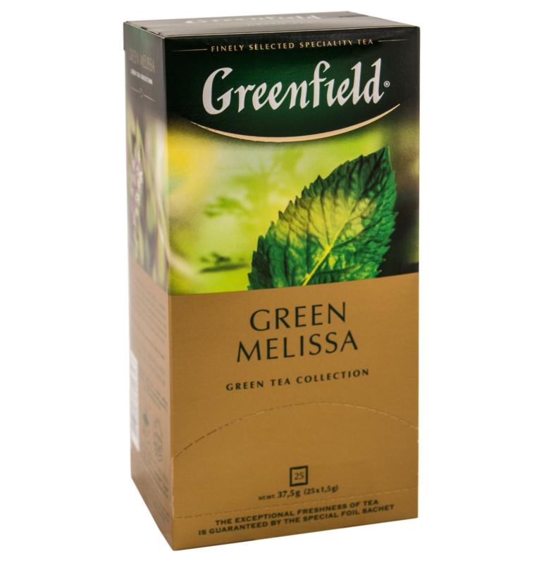 ЧАЙ GREENFIELD GREEN MELISSA 25 пак