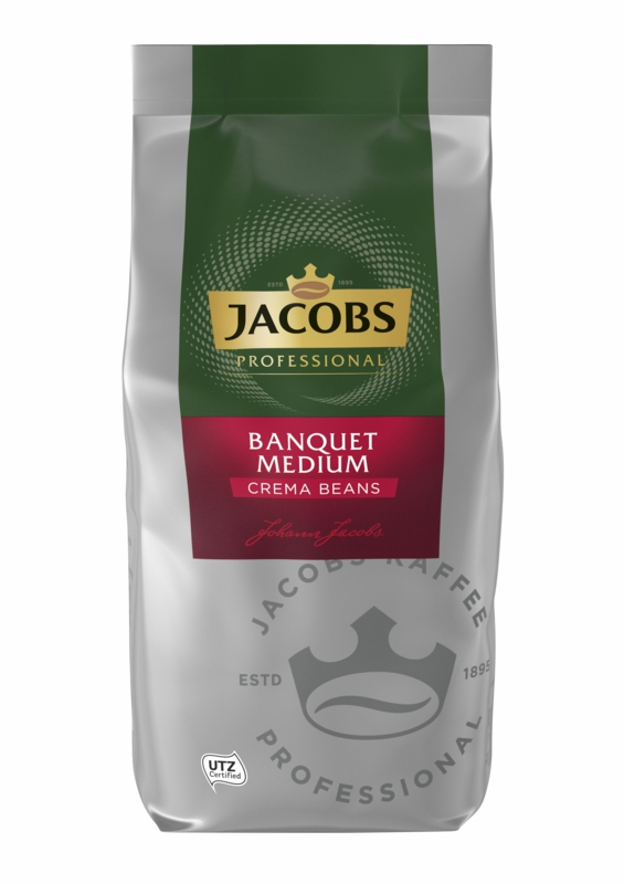КАВА ЗЕРНОВА JACOBS CAFE CREME BANKETT MEDIUM 1 кг